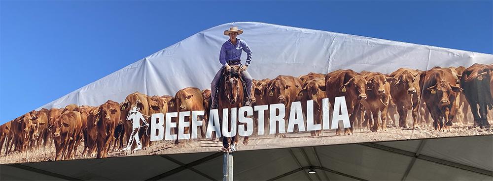 Farmbot yarded at Beef Australia